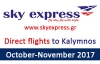 Book your flight to Kalymnos with Sky Express